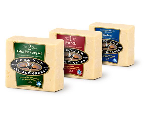 3 types de fromage vieillis de l'Isle-Aux-Grues